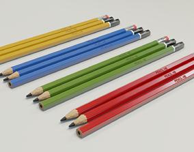 3D asset Graphite pencils pack