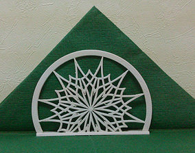 3D print model Stand for napkins Snowflake