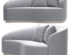 Interlude Dana Curved Sofa 3D