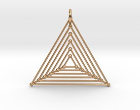 Nested Triangles Pendant 3D printable model