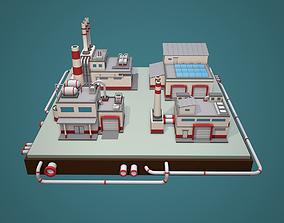 3D model Low Poly Factory