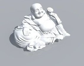 3D model Sitting Budda