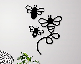 3D printable model Flying Bees Wall Decoration