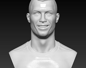 Cristiano Ronaldo -Real Madrid- player bust 3D High 1
