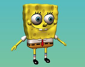 Sponge Bob 3D model VR / AR ready