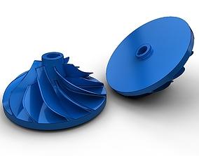 Turbo impeller 3D print model