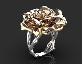 fashion-ring 3D printable model ring rose