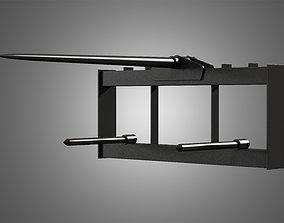 3D model Bale Fork - Spare Part for JCB Skid Steer