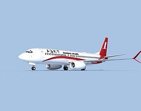Boeing 737-800 Max Shanghai 3D model rigged