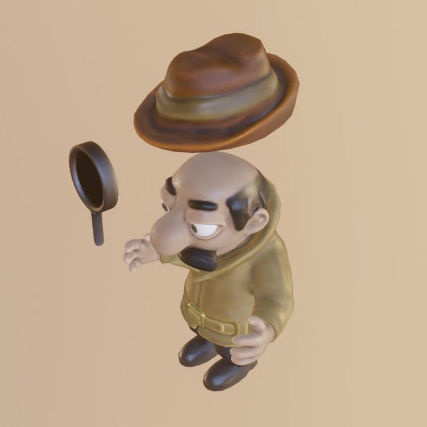 Cartoon Inspector Low-Poly Version