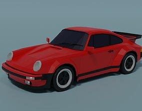 3D asset low-poly Porsche 930 Turbo