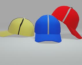 hat Baseball cap 3D asset game-ready