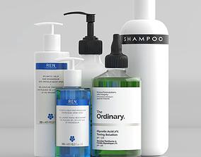 3D model Bathroom Cosmetics Set