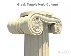 3D Greek ionic temple column