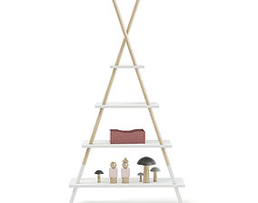 3D Teepee Shape Shelf with Decorations