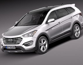 3D Hyundai Santa Fe 2013