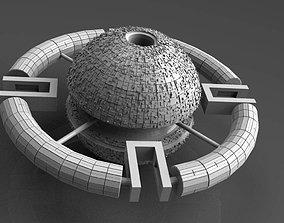 Space station 3D model scifi