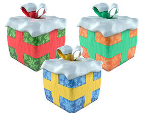 3D asset low-poly Gift Box