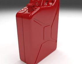 3D model Jerry Can Red
