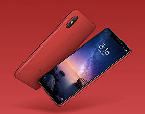 Xiaomi Redmi Note 6 Pro red phone 3D model hobby-diy