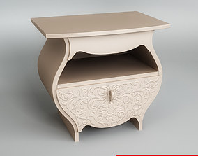 drawers Bedside Table 3D model