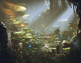 3D model UE4 - Deep Elder Caves