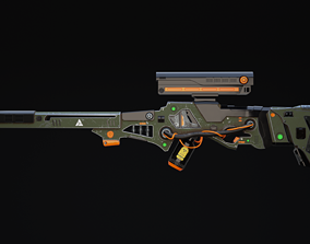 3D asset Zyphon Rifle Scifi Game Ready