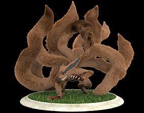 3D animated Kurama Nine Tails Naruto