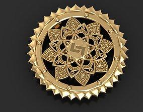 3D printable model Mandala pendant