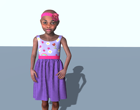 3D model Baby in a simple dress