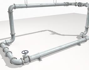 3D model Modular pipes pack 5