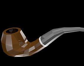 3D model Low poly smoking pipe