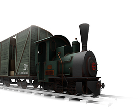 3D model locomotive Steam Locomotive