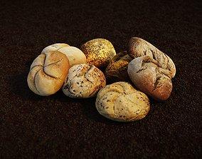 Bread roll pack 3D model