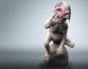 Chubby Gollum 3D print model