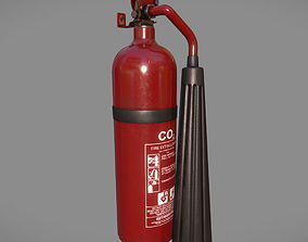 Lowpoly Extinguisher 3D model