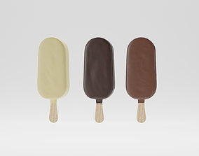 vanilla 3D model Ice Cream on Stick