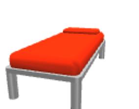 3D Orange child bed