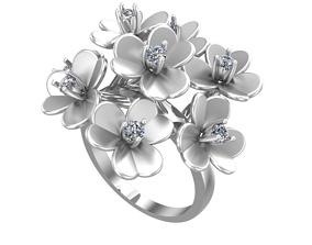 3D printable model 014 - Flower Ring