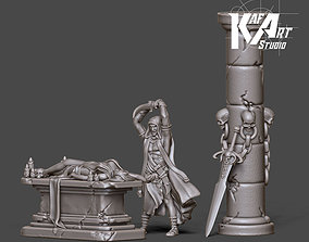 Dark ritual scenery - 35 mm scale 3D printable model