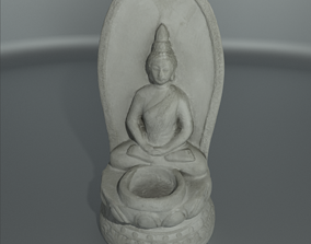 3D Buddha Stone Statue