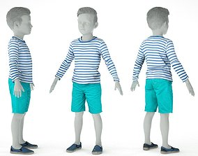 3D asset realtime Kid Outfit 8