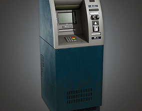 computer 3D model Bank ATM 1 BHE - PBR Game Ready