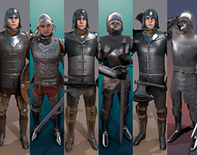 3D model Medieval Knights Pack - 2