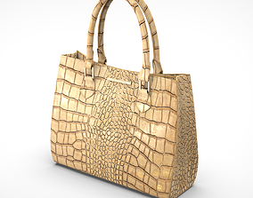 3D asset game-ready Leather bag
