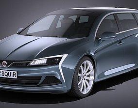 Generic estate wagon v2 2017 3D model