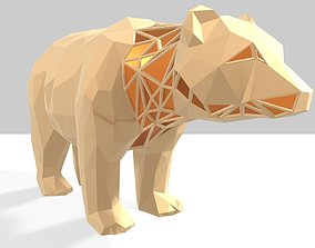 3D printable model Polygonal Bear Parametric