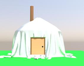Mongolian tent 3D model