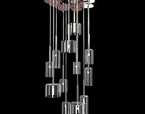 Ozcan 12 lamp pendant chandelier 3D model