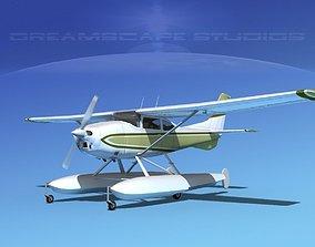 3D model Cessna 182 Skylane Seaplane V08